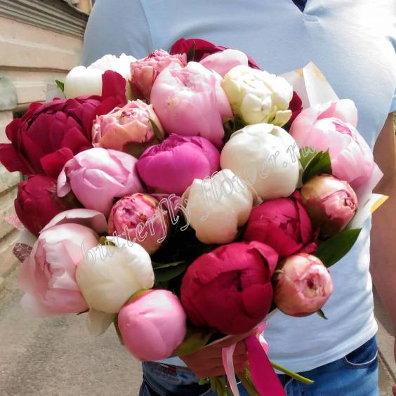 """Bouquet of colorful peonies """"Captivating"""""""