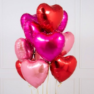 "Ball helium ""Heart"" pink-red mix"