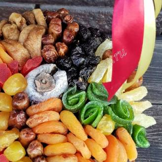 "Bouquet of dried fruits in the basket ""Sweetheart"""
