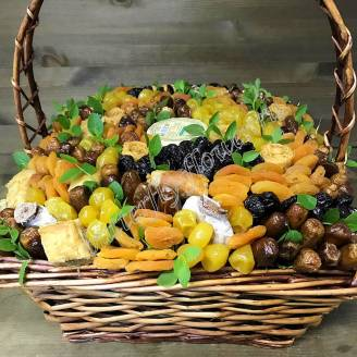 "Bouquet of dried fruits and honey in the basket ""Haymaking"""