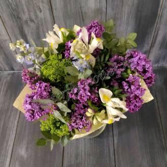 """Bouquet of seasonal flowers """"Lilac"""""""