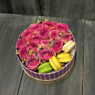 "Bouquet of flowers in decorative box ""Tidbit"""
