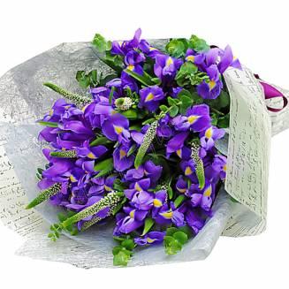 "Bouquet of irises and veronica ""Purple Breeze"""