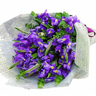 "Bouquet of irises and veronica ""Purple Breeze"""