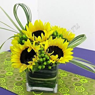 "Bouquet with sunflowers ""Sun"""