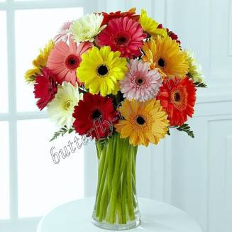 "Bouquet of gerberas ""Bright day"""