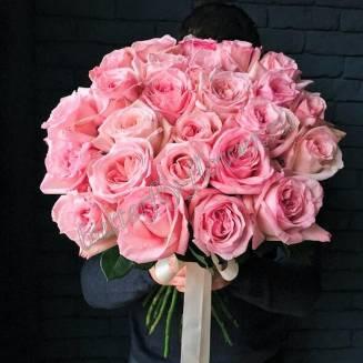 "Bouquet of 25 pink peony roses Pink O'hara ""Caroline"""