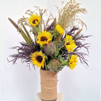 "Bouquet with sunflowers ""Summer in the village"""
