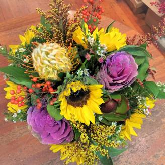 "Bouquet of sunflowers and exotic flowers ""Tanzania"""
