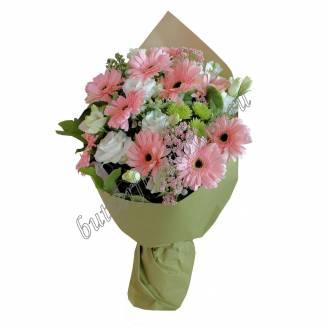"Bouquet of gerberas and eustomas ""Fairy Smile"""
