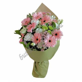 "Bouquet of gerberas and eustomas ""Fairy Smile"""