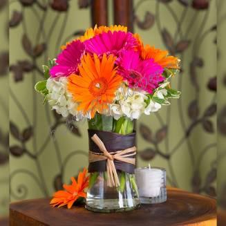 "Bouquet of different color gerberas ""Cutie"""