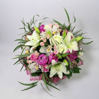 "Bouquet of lilies, peonies, orchids and spray roses ""Symphony"""