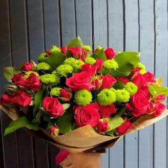 "Bouquet of roses and chrysanthemums ""Male"""