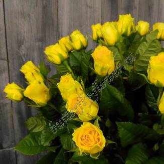 "Bouquet of 51 yellow roses ""Sunny Island"""