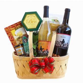 "Gift gastronomic basket with snacks and alcohol (wine) as a gift ""The Big Secret for a Small Company"""