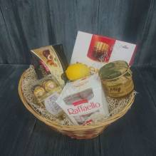 "Gift basket with sweets, chocolate, honey and lemon ""Get Well"""