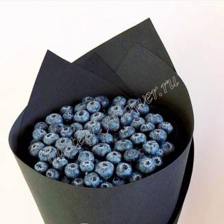 "Food bouquet of blueberries in a bag of black craft ""Blueberry"""