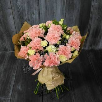"Bouquet of carnations and spray roses ""Lady in Pink"""