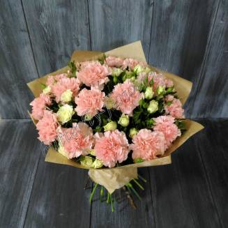 """Bouquet of carnations and spray roses """"Lady in Pink"""""""
