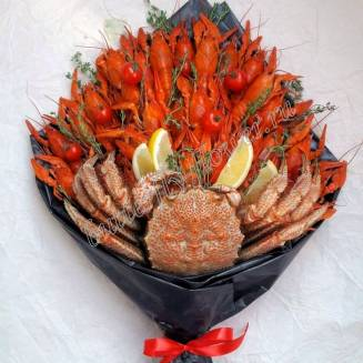 "Bouquet of crayfish, lemon, peppers and tomatoes ""Delicious No.703"""