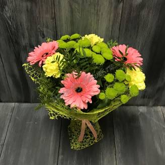 "Bouquet of gerberas and chrysanthemums ""Day of Knowledge"""