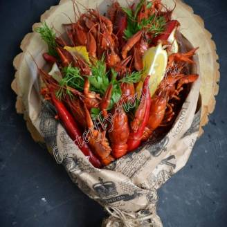 "Bouquet of crayfish, lemon, peppers and herbs ""Delicious No.716"""