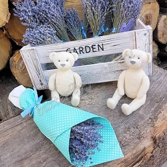 "Bouquet of dried flowers - lavender in craft ""Yuzhanka"""