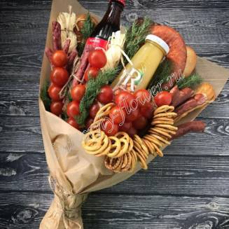 "Food meat bouquet of sausage, vegetables and cheese ""For Man No.922"""