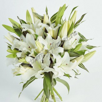 """Bouquet of lilies """"White Fleur"""""""