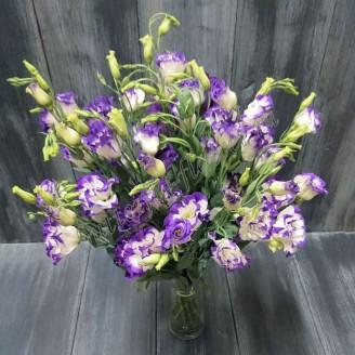 """Bouquet of purple eustoma (lisianthus) """"Storm cloud"""""""