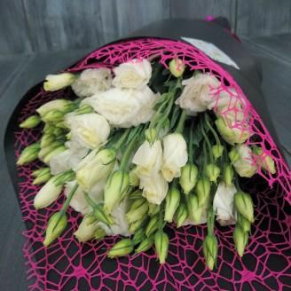 """Bouquet of white eustoma (lisianthus) """"White Cloud"""""""