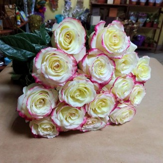 "Bouquet of bicolor premium roses ""Sweetness"""