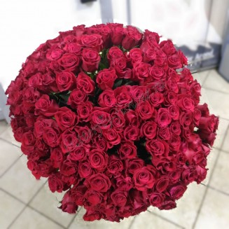 "A large bouquet of 175 red roses ""Royal Chic"""