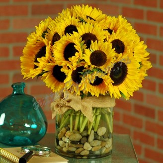 "Bouquet of sunflowers ""Armful of happiness"""