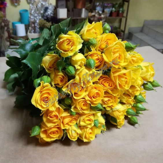 "Bouquet of yellow spray roses ""Marisa"""