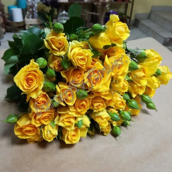 "Bouquet of yellow spray roses ""Marisa"""