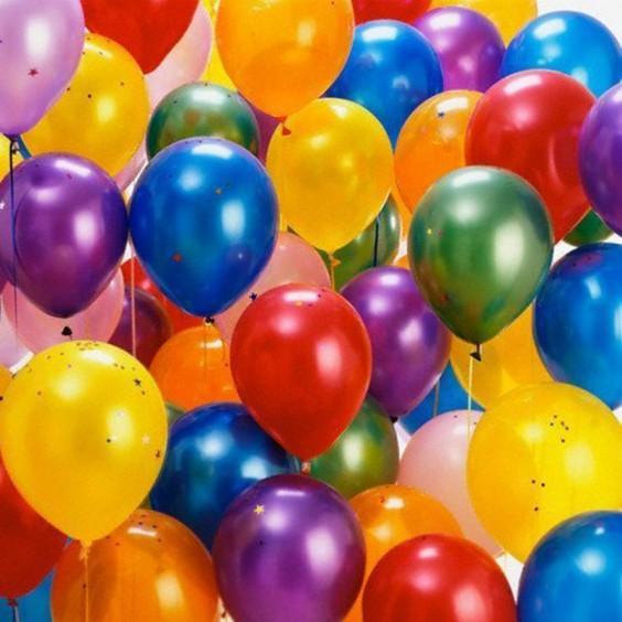Helium latex balloon